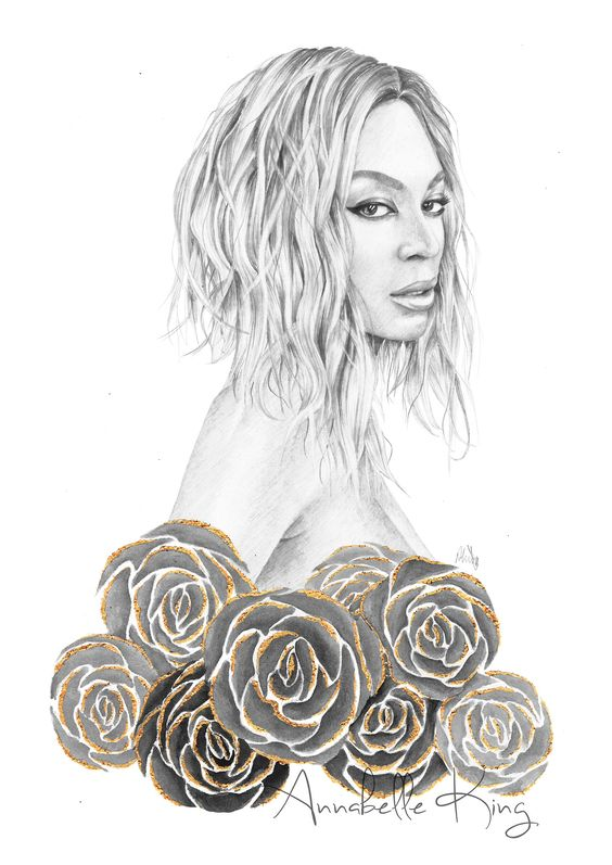 Beyonce illustration by Annabelle King