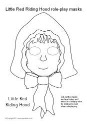 Little Red Riding Hood role-play masks - black and white (SB8738) - SparkleBox: