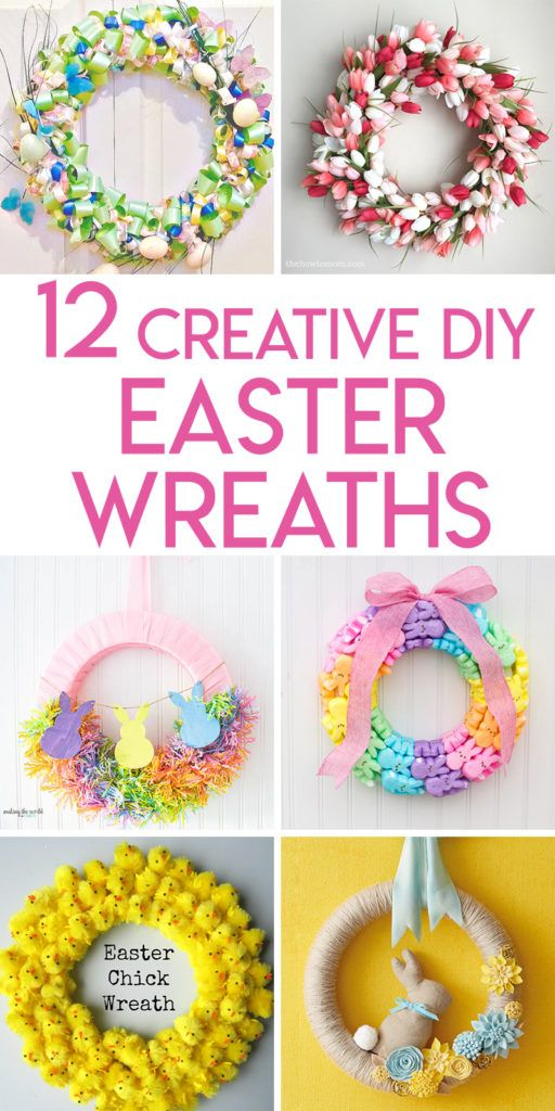 Collage Of Easter And Spring Wreaths