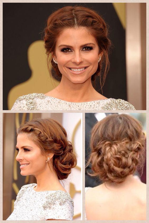Maria Menounos - Oscar hair 2014 bridesmaid hairstyle option