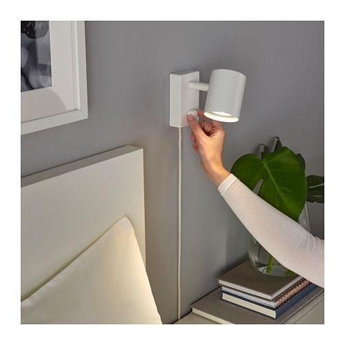 Nymane Wall Reading Lamp With Led Bulb White Ikea Reading