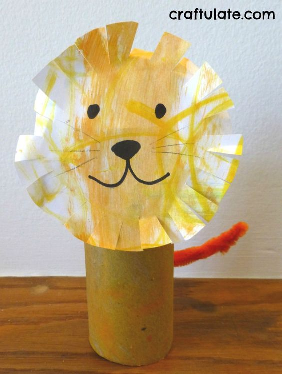 ribbon lion puppet craft craft and toilet paper roll crafts on 5333