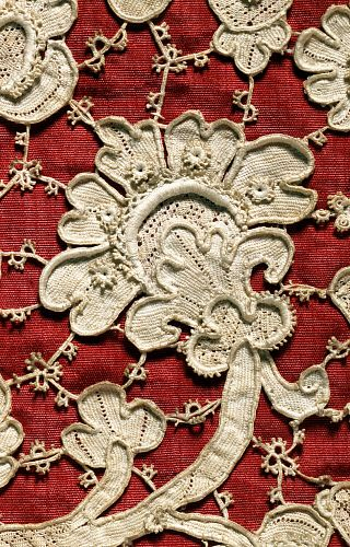Chasuble, detail. Venice, Italy, late 17th century: