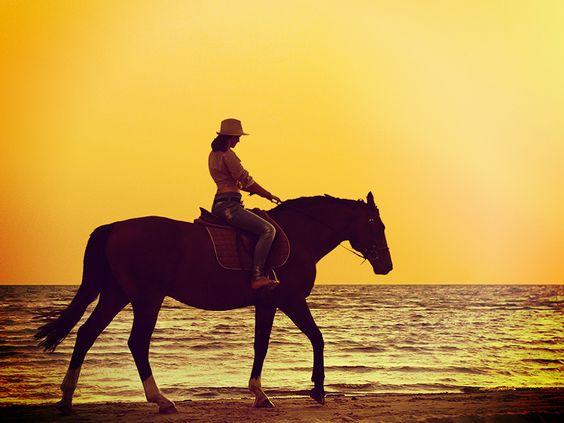 Go horseback riding on the beach.