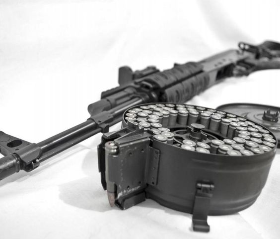 Gun With Fully Loaded Magazine