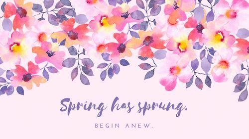 Spring Desktop Wallpapers Spring Desktop Wallpaper Watercolor Desktop Wallpaper Spring Wallpaper