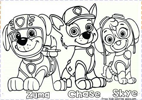 Print Free Chase Paw Patrol List Coloring Pages Paw Patrol Coloring Paw Patrol Coloring Pages Chase Paw Patrol
