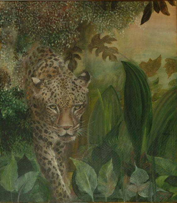 Brassai Gabi: Wild oil on canvas