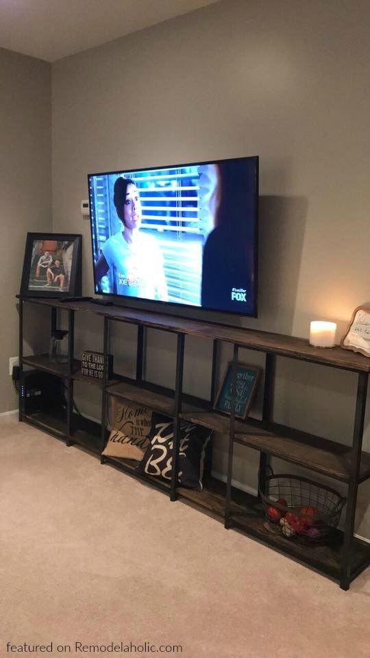 Wood and Metal IKEA Hack Industrial Shelf (Remodelaholic