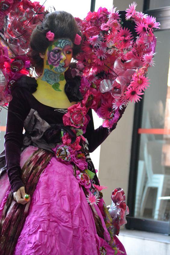 Muestra final taller de Vestuario 2012 IMM. Docente Mariela Gotuzzo, modelo Yessica
