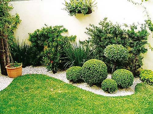 Jardin exterior peque o inspiraci n de dise o de - Diseno de jardines interiores ...