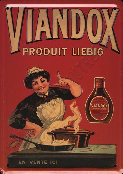 plaque publicitaire Viandox produit Liebig.: