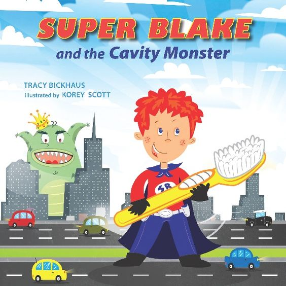 Super Blake Books are a series of picture books that follow Super Blake through a variety of adventures and show kids how they can be a hero in everyday life. In the first book in the series Super Blake battles tooth decay. http://mymcbooks.wordpress.com/2012/04/15/book-reviewgiveaway-super-blake-and-the-cavity-monster-ends-april-27th/#respond