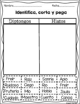 Diptongos E Hiatos Preschool Education Interactive Notebooks Interactive Activities