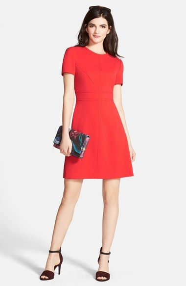 A Line Red Dress