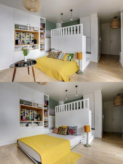 Amenager 20m2 10 Astuces Indispensables Clemaroundthecorner Amenagement Studio 20m2 Amenagement Petit Appartement Amenagement Studio