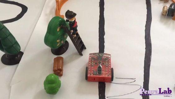 El robot Edison segueix línies