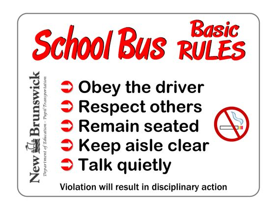 Intrepid image regarding printable school bus rules