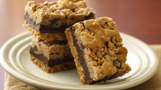 Fudgy Chocolate Chip-Toffee Bars Recipe