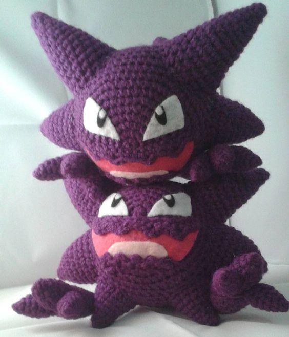Crochet Amigurumi Faces : I made some Haunters. So mischievous. Weird World of My ...