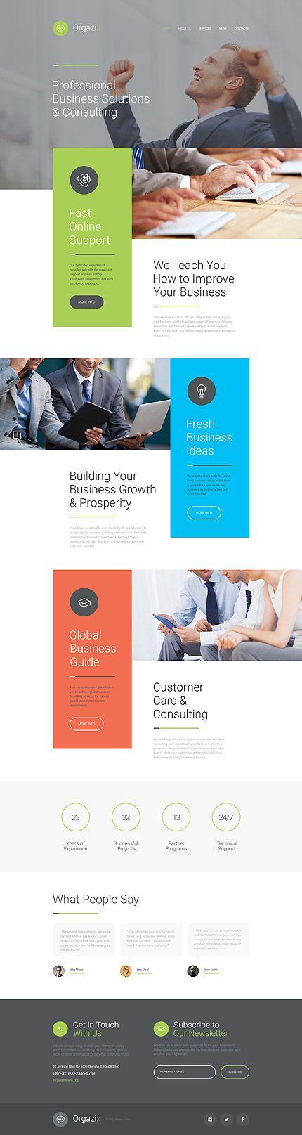 Template 57796 - Orgazix Business Responsive Website Template