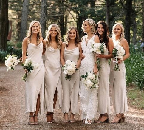 Ankle Length Spaghetti Straps Long Bridesmaid Dresses For Wedding Party Spaghetti Strap Bridesmaids Dresses Cream Bridesmaid Dresses Bridesmaid Dresses