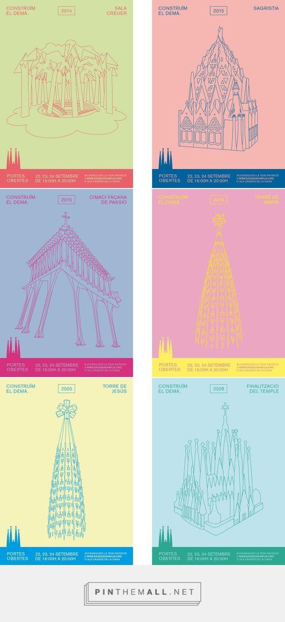 Portes Obertes 2013 - Sagrada Família on Behance by @xavipalu and @designisnatural #designisnatural #campaign #poster #design #sagradafamilia #portesobertes #barcelona - created via https://pinthemall.net
