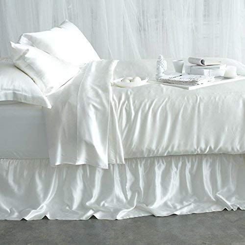 Hotel Quality 1500 Thread Count Heavy Egyptian Cotton Luxury 4 Piece Bed Sheet Set Cal King White Solid Prem Silk Bed Sheets Silk Sheets White Silk Bedding