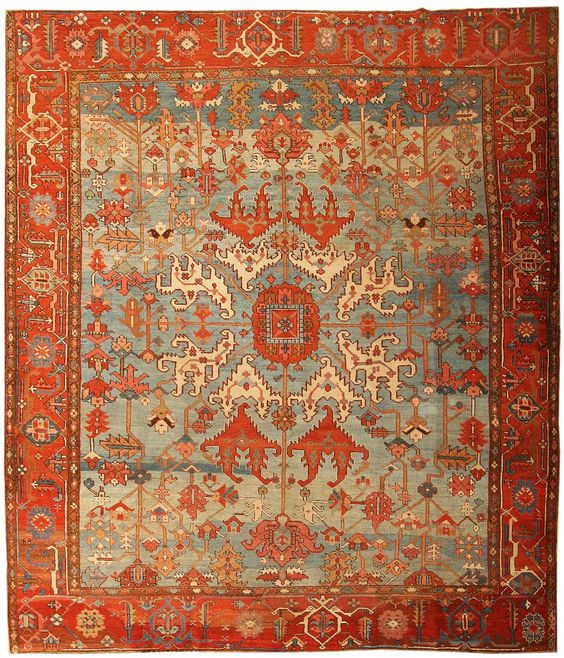 Antique persian rug identification