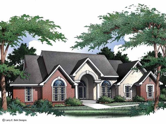 Eplans New American House Plan   Winsome One Story Brick Home    Eplans New American House Plan   Winsome One Story Brick Home   Square Feet
