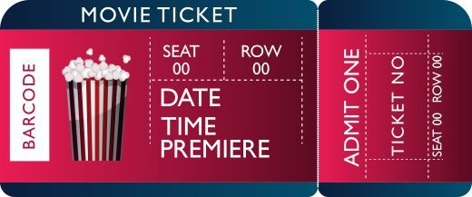 Movie Ticket Template 20 Attractive And Customized Ticket Templates Demplates Movie Ticket Template Ticket Template Movie Tickets