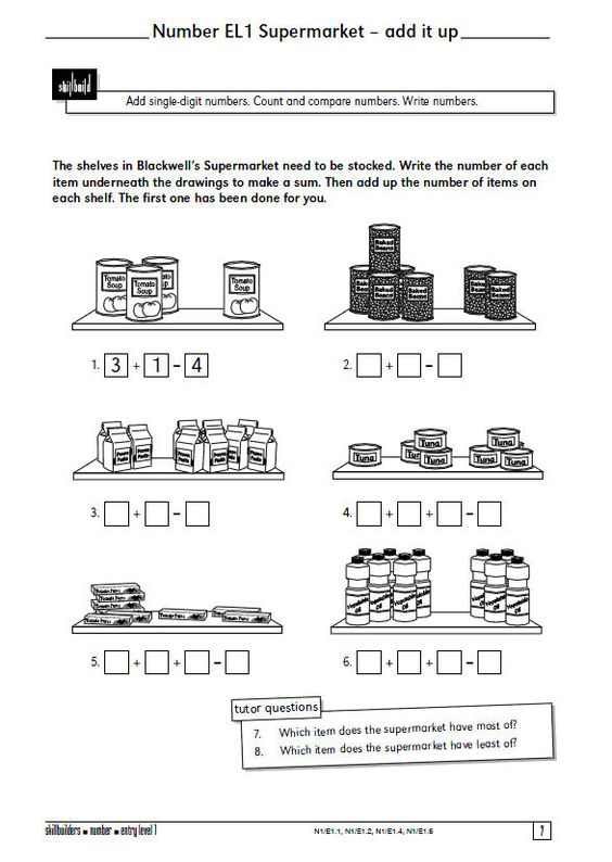 A selection of 15 Functional Maths worksheets from Axis – Basic Skills Math Worksheets