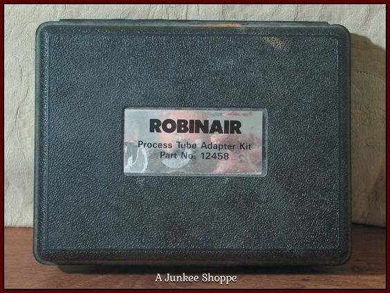 ROBINAIR 12458 Process Tube Adaptor Kit Air Conditioner Repair Equipment Used  P733  http://ajunkeeshoppe.blogspot.com/