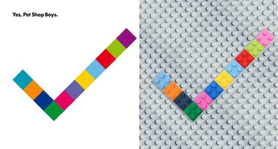 Pet Shop Boys - LEGO Album Covers