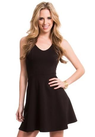 Solid Ponte' Dress My next homecoming dress with a gold statement necklace and some black pumps?