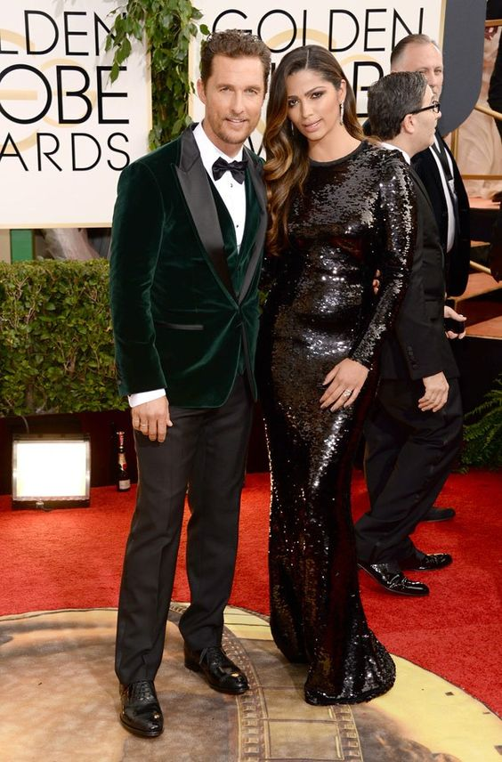 Hot couple alert! Matthew McConaughey and Camila Alves at the #GoldenGlobes