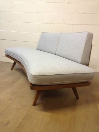 Vintage mid century knoll day bed cherry sofa 50s 60s deco for Sofa bed 60s