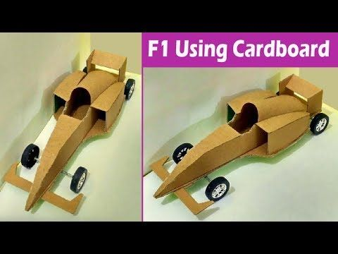 Make Your Own Toy Car How To Make F1 Car With Cardboard Step By
