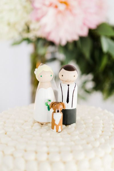 Cute cake toppers: http://www.stylemepretty.com/new-york-weddings/new-york-city/manhattan/2015/04/21/modern-romantic-new-york-city-wedding/ | Photography: CLY by Matthew - http://www.clybymatthew.com/