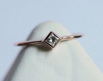Cinco banda diamante anillo de diamante amarillo de por capucinne