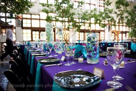 Purple and turquoise colour scheme idea