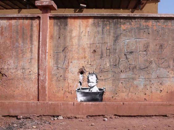 banksy-graffiti-street-art-babybath: