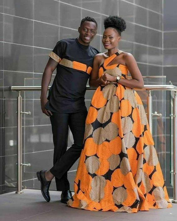 Ankara Plain and Pattern Styles For Couples