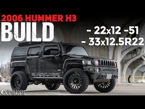 This 2007 Hummer H3 4wd Is Running Xd Rockstar 20x10 24 Wheels Toyo Open Country Mt Tires With Leveling Kit Suspension Hummer H3 Hummer Hummer H3 Lifted