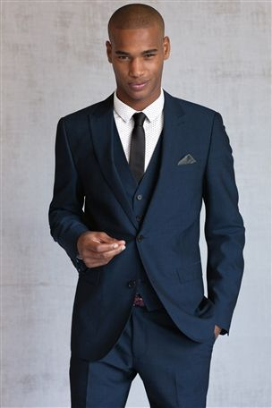 Buy Bright Blue Slim Fit Suit: Jacket from the Next UK online shop