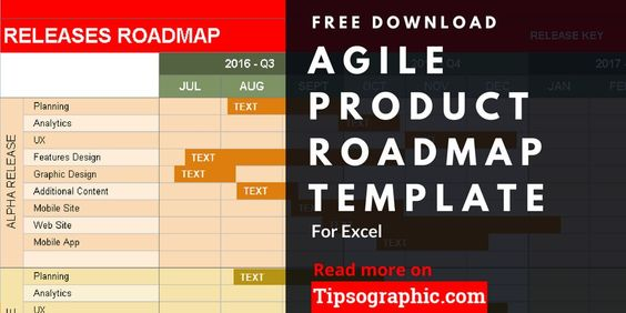 Agile Product Roadmap Template For Excel Free Download Agile