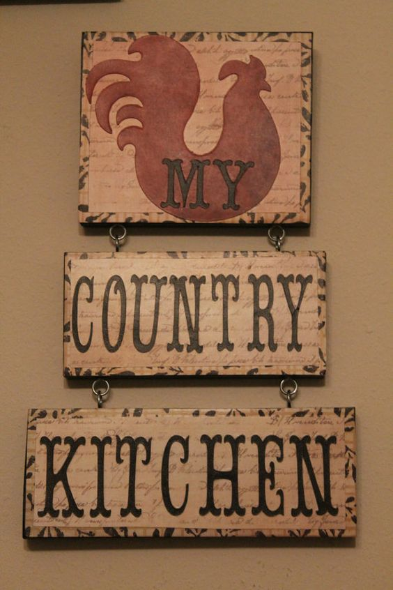 Rooster decor country kitchen sign kitchen decor for Rooster home decor