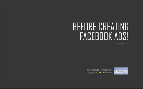 Before Creating Facebook Ads!