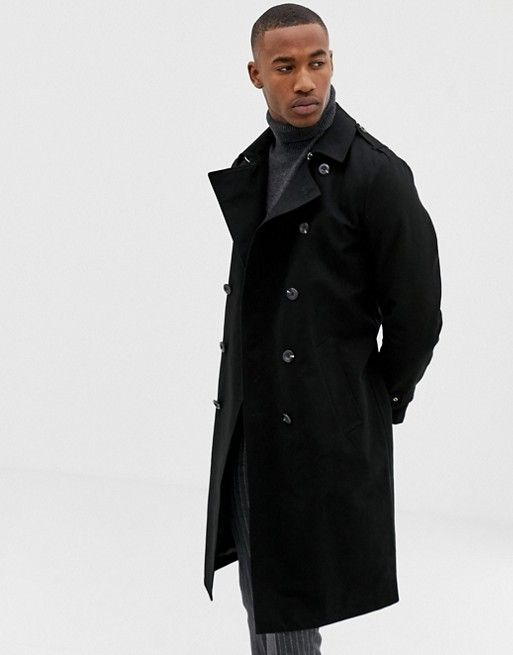 Black Shower Resistant Hooded Longline