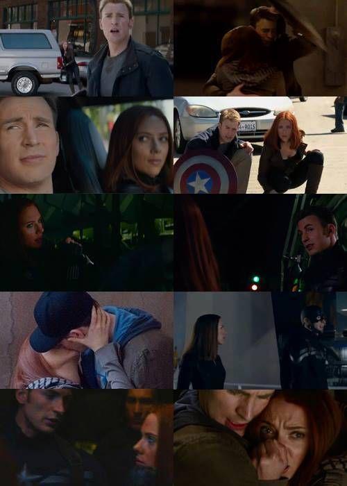 Captain America et la Veuve Noire <3<3
